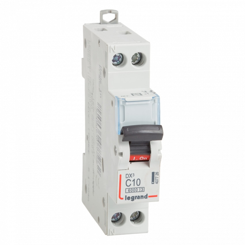Interruptor Automático Magnetotérmico DX3 Terciário 1P+N Curva C 10kA 10-32 A LEGRAND 407726