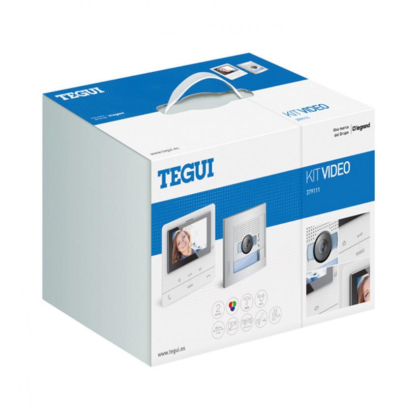 Kit Videoportero 1 Vivienda 2 Hilos con Placa SFERA NEW y Monitor Manos Libres CLASSE 100 V16B Básico TEGUI 379111