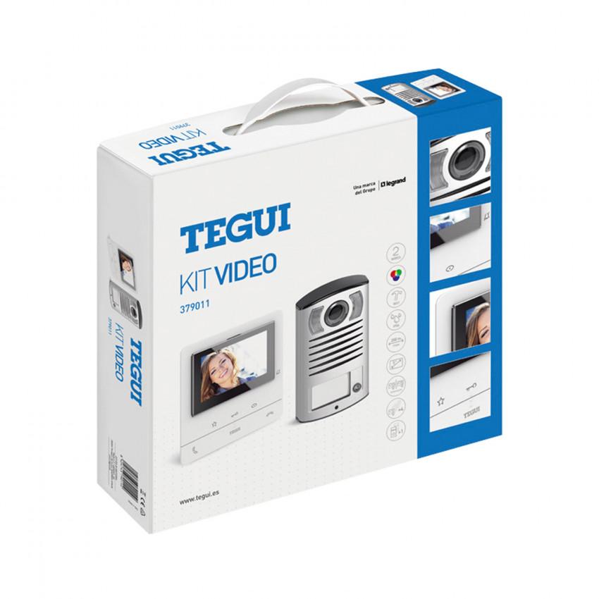 Kit Videoportero 1 Vivienda 2 Hilos con Placa LINEA 2000 y Monitor Manos Libres CLASSE 100 Básico TEGUI 379011