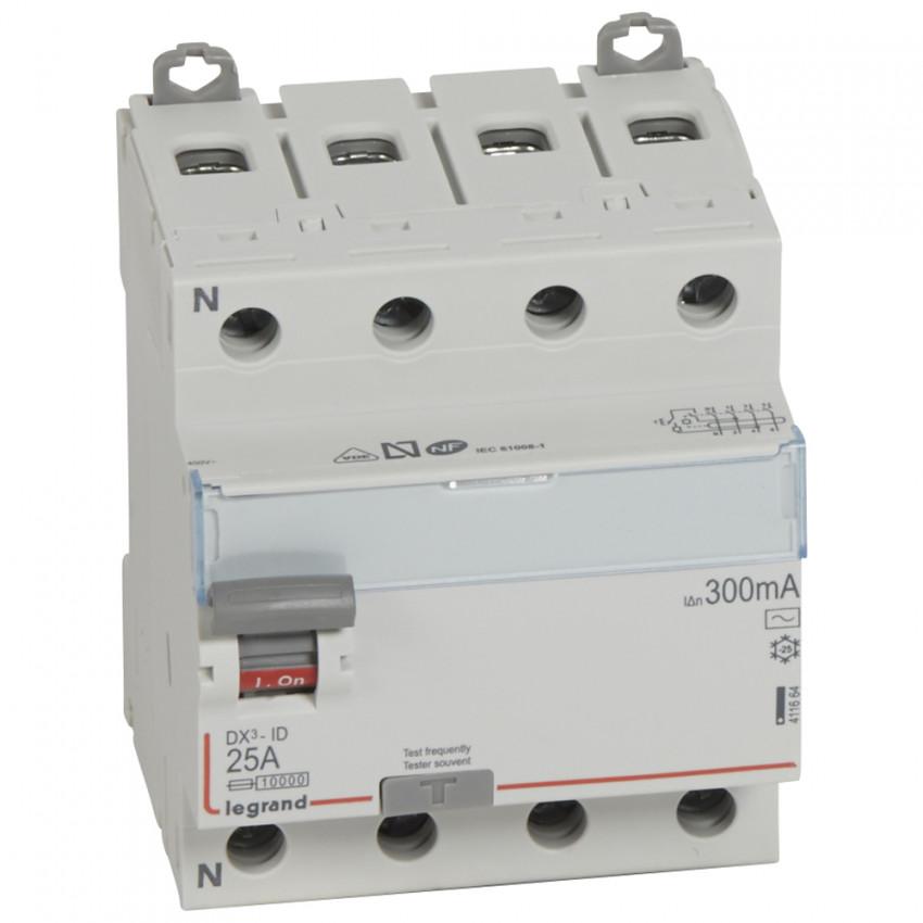 Interruptor Diferencial DX3 Terciário 4P 300mA Tipo AC 25-63 A LEGRAND 411664