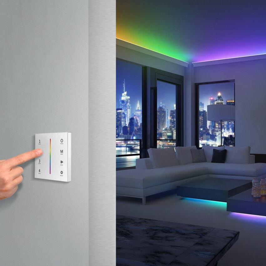 Fita LED RGB com Mecanismo Regulador Táctil e Alimentação