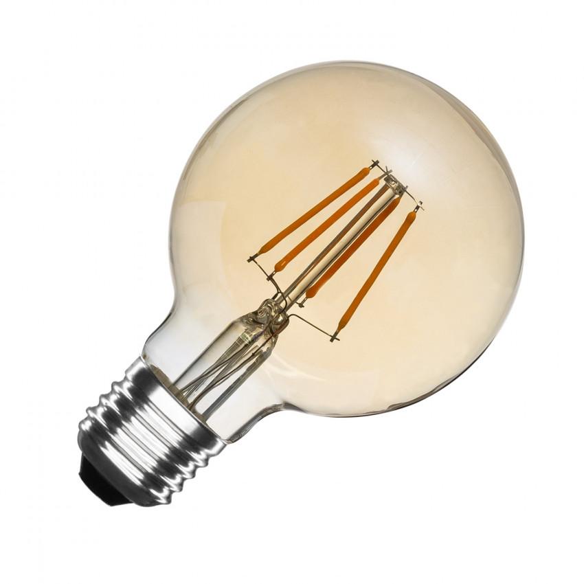 Bombilla LED E27 Regulable Filamento Gold Globo G80 5.5W