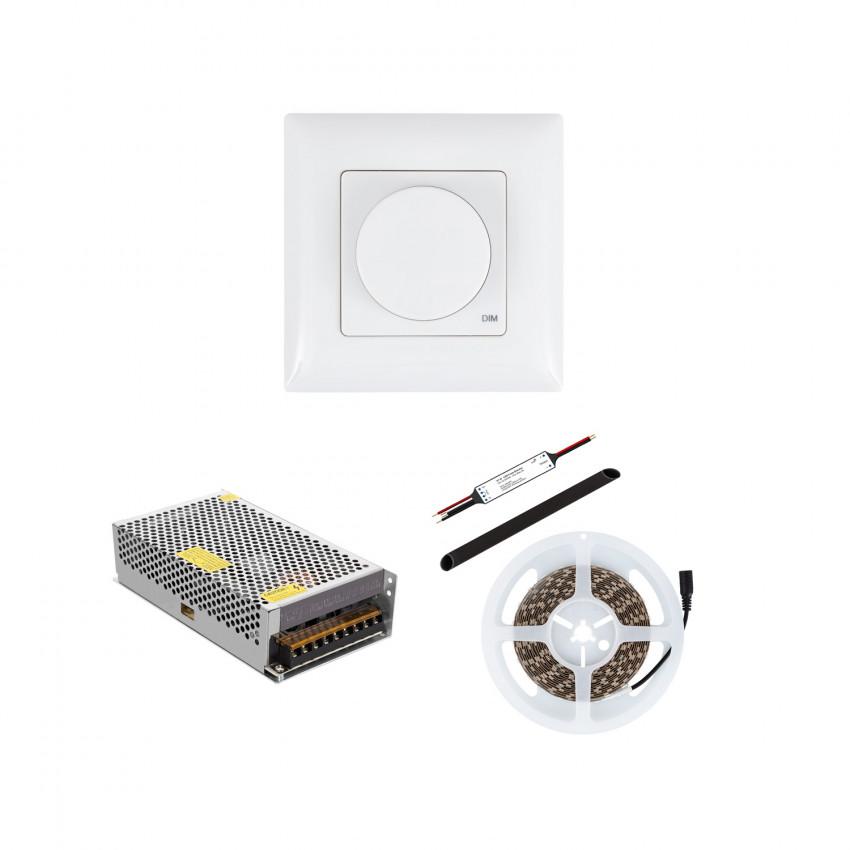 Fita LED 24V DC 60LED/m IP20 com Regulador Inalâmbrico e Fonte de Alimentação