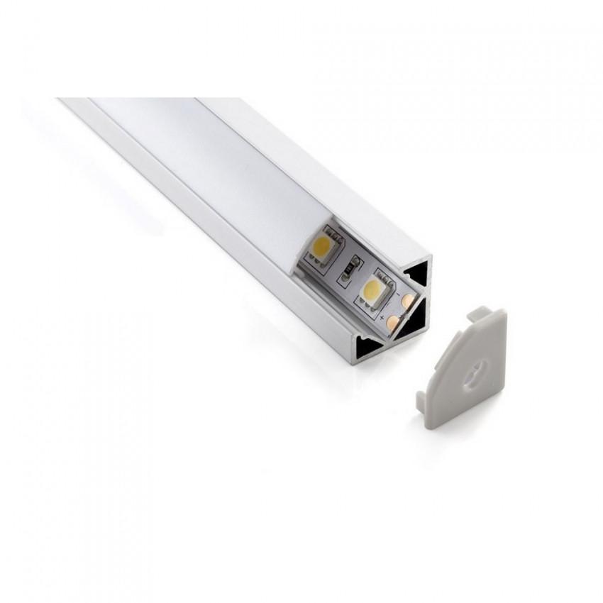 Perfil LED 12V DC Frost 4W para Esquinas con Conector Rápido