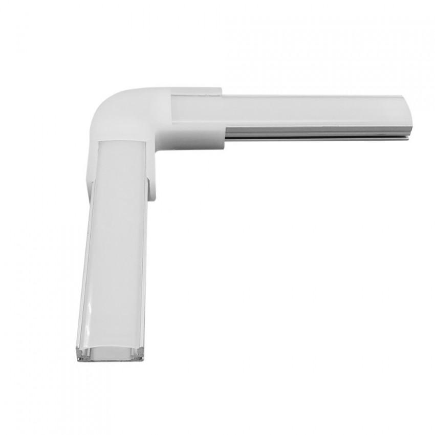 Unión en L para Perfil de Aluminio de Superficie para Tiras Dobles hasta 20 mm