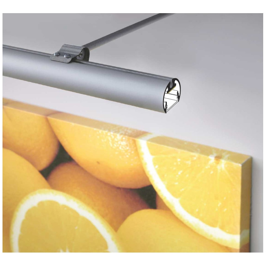Perfil de Alumínio Suspenso 1m para Fitas LED Até 10 mm