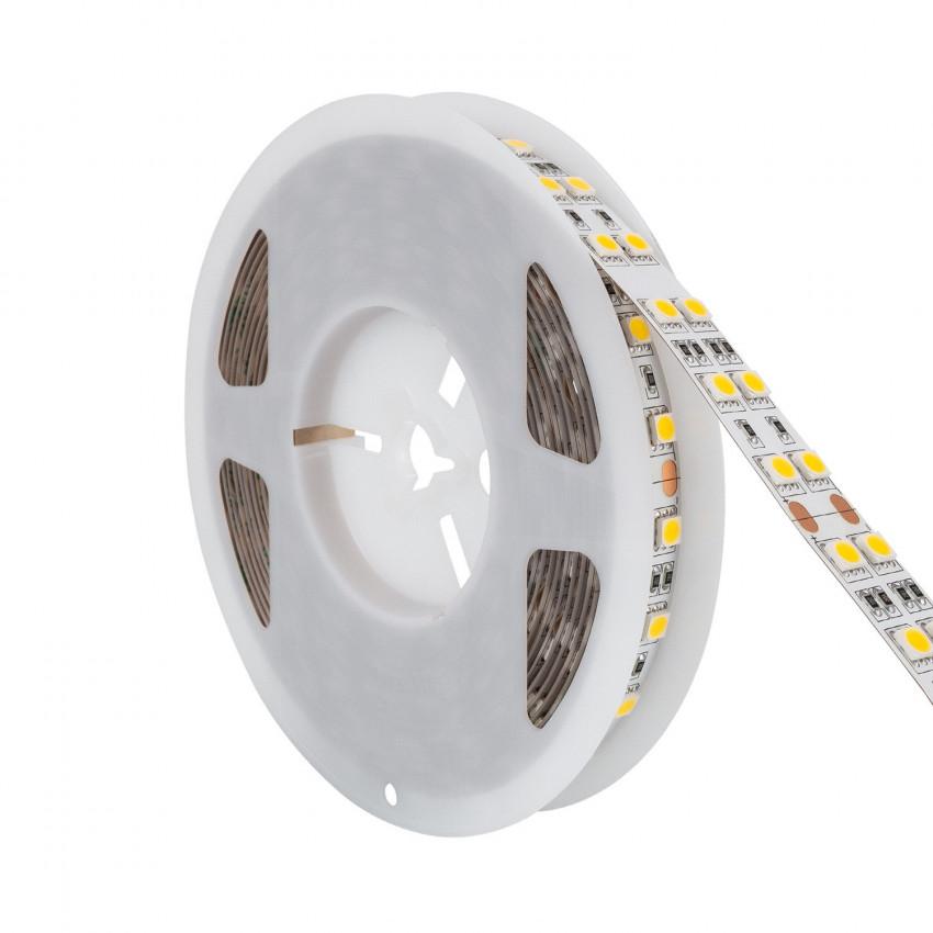 Tira LED 12V DC 120LED/m 5m Doble Ancho IP20