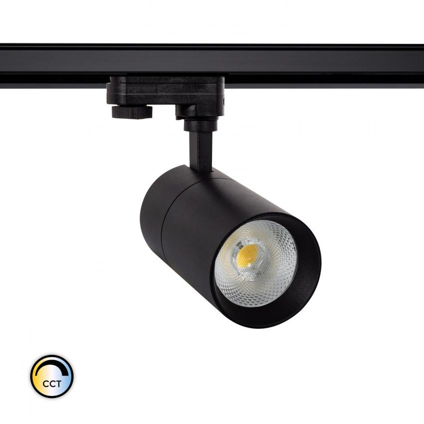 Foco LED CCT Seleccionável New Mallet 20W para Carril Trifásico