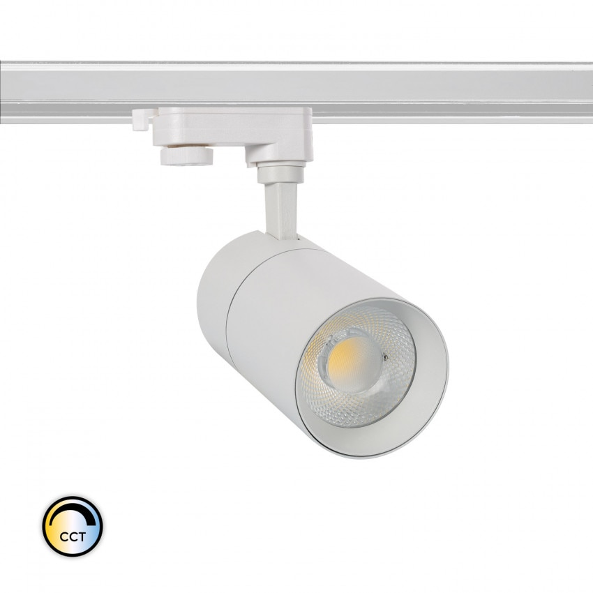 Foco LED CCT Seleccionável New Mallet 30W para Carril Trifásico