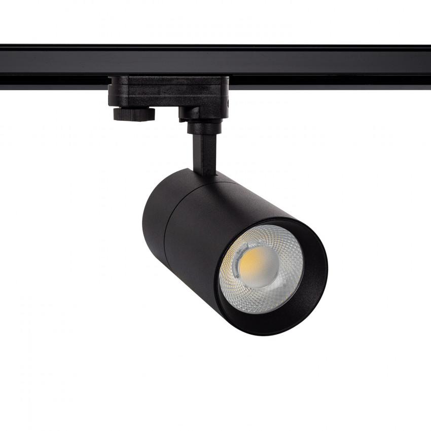 Foco LED New Mallet Negro 20W Regulable No Flicker para Carril Trifásico (UGR 15)