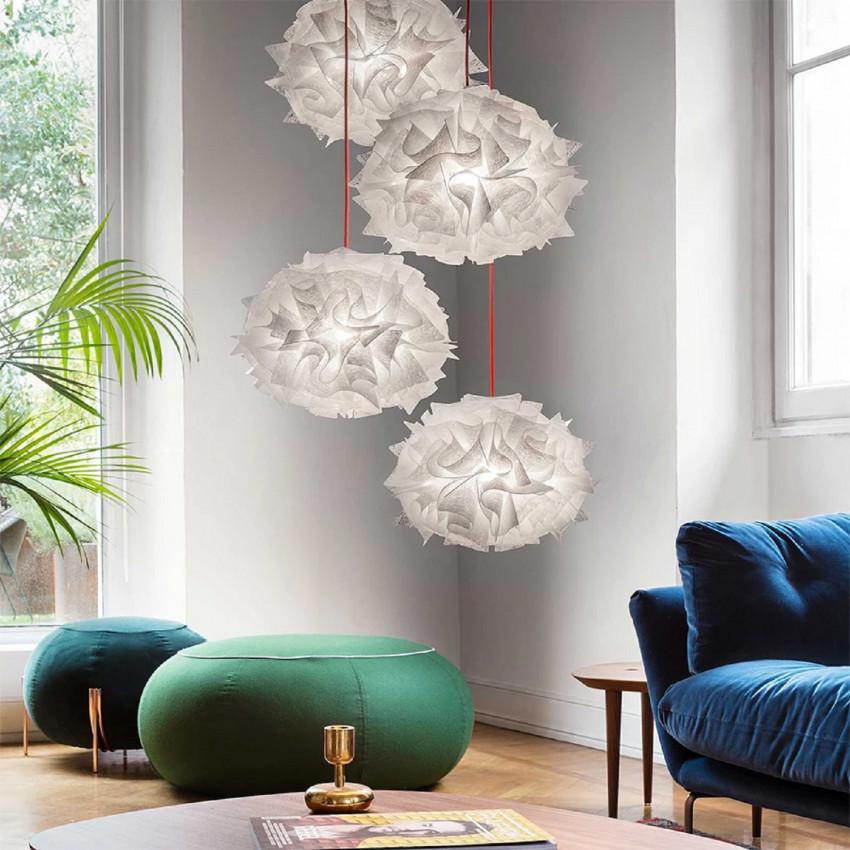 Lámpara Colgante SLAMP Veli Mini Quartet Suspension Couture