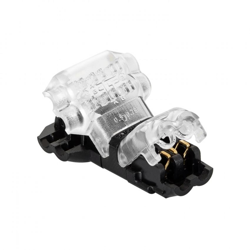 Conector tipo T de 2 pólos de cabo não decapado de 0,5mm para as Fitas LED IP40
