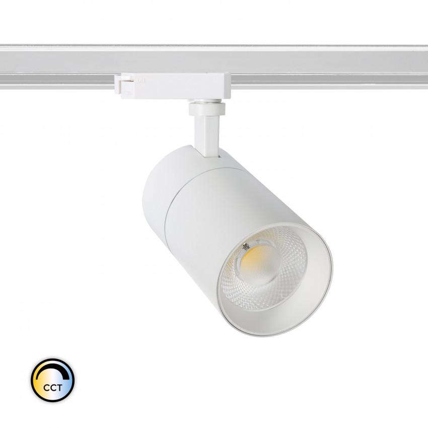 Foco LED New Mallet 30W Regulável No Flicker CCT Seleccionável para Carril Monofásico (UGR 15)