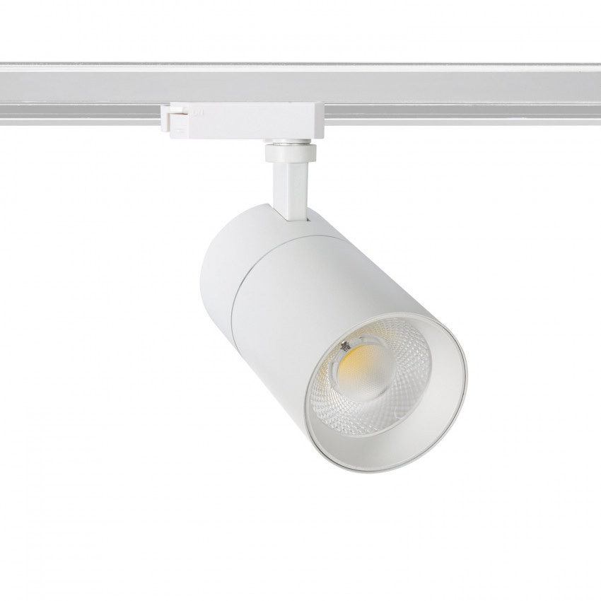 Foco LED New Mallet Branco 30W Regulável No Flicker para Carril Monofásico