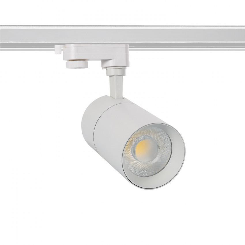 Foco LED New Mallet Branco 30W para Carril Trifásico
