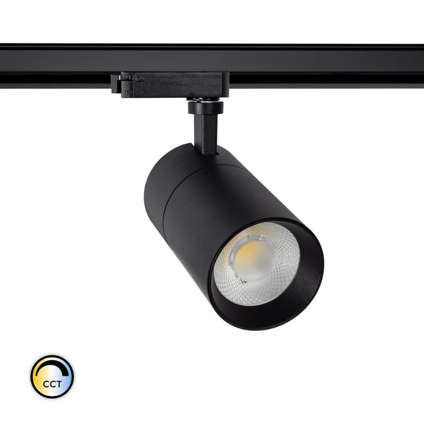 Foco LED New Mallet 20W Regulável No Flicker CCT Seleccionável para Carril Monofásico (UGR 15)