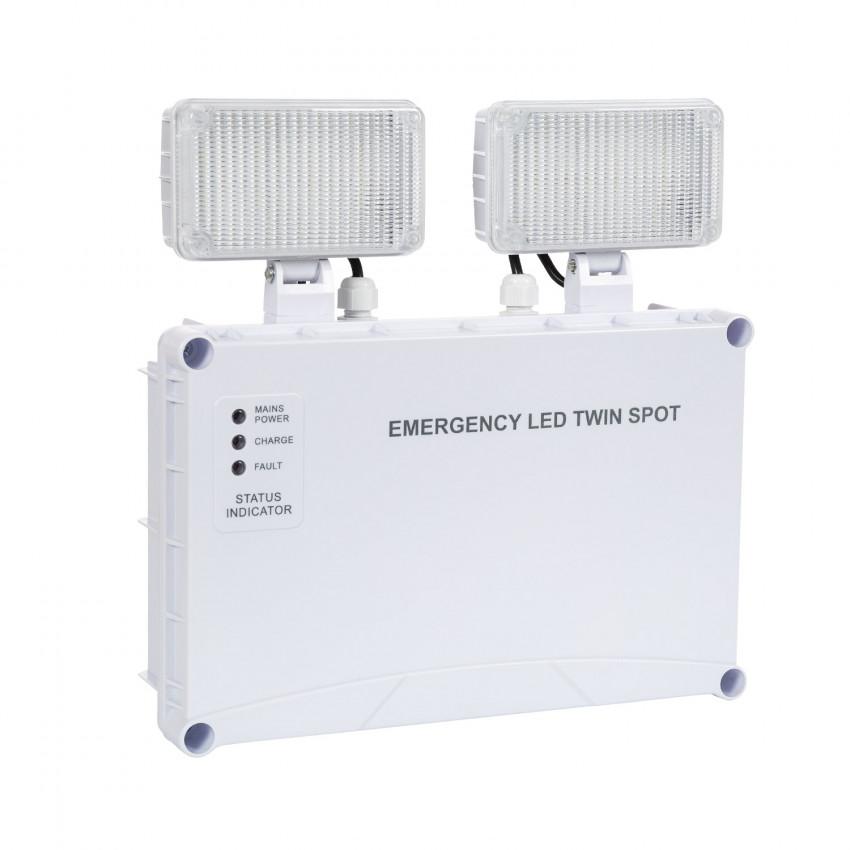 Luz de Emergência LED TwinSpot Quadrado 6W