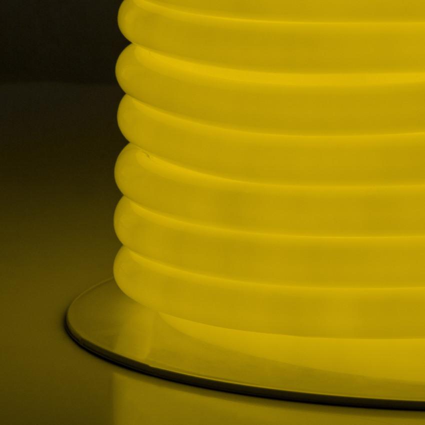 Rolo Neon LED Flexível Circular 360 120LED/m IP67 Amarelo 50 Metros