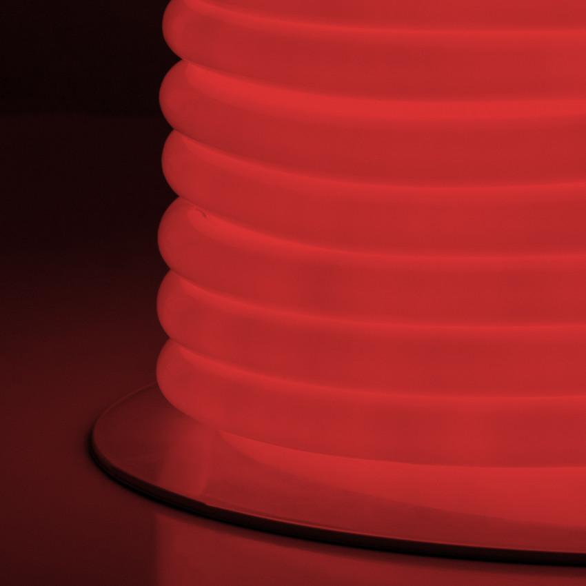 Rolo Neon LED Flexivel Circular 360 120LED/m Vermelho 50 Metros