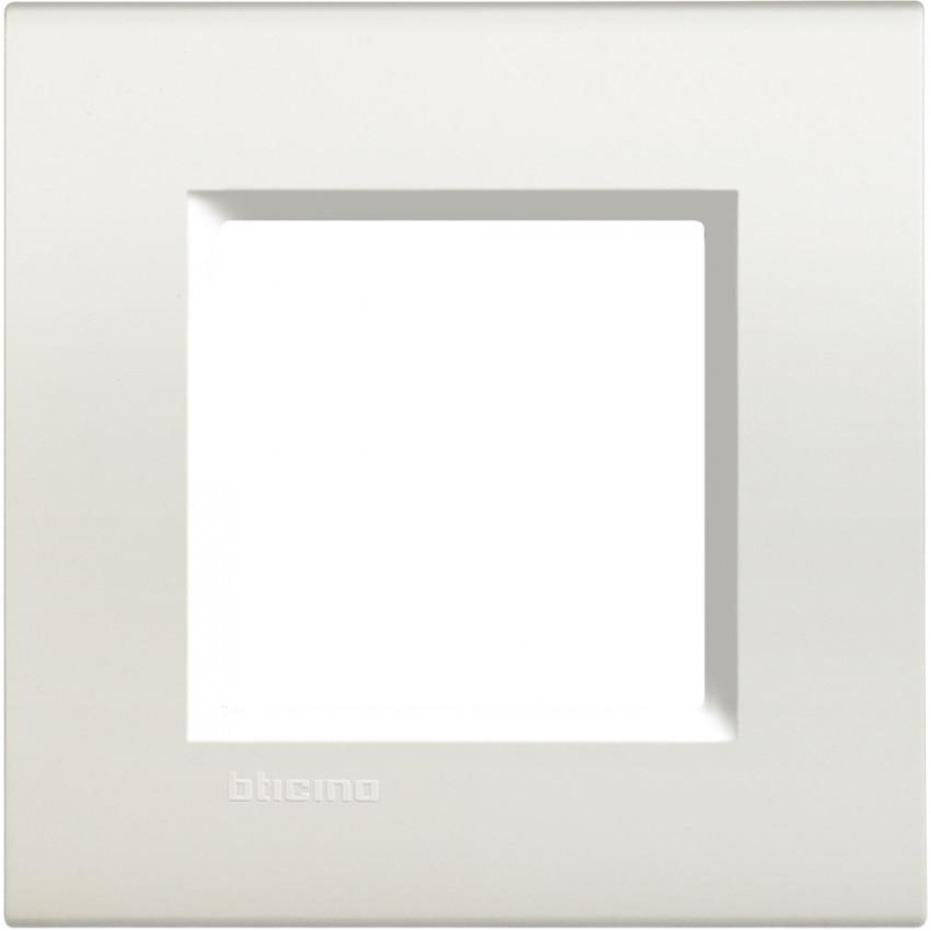 Placa Cuadrada 2 Módulos BTicino Living Light LNA4802BI