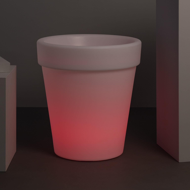Macetero 60cm  LED RGBW  Recargable