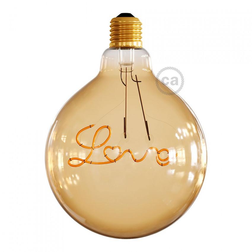 Bombilla LED E27 Regulable Filamento 5W Creative-Cables G125 Love Para Suspensión Modelo CBL700216