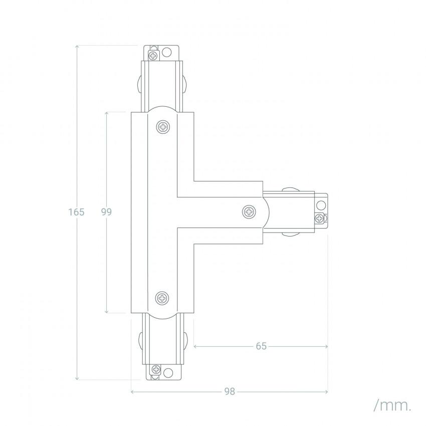 Conector Tipo T para Carril Trifásico