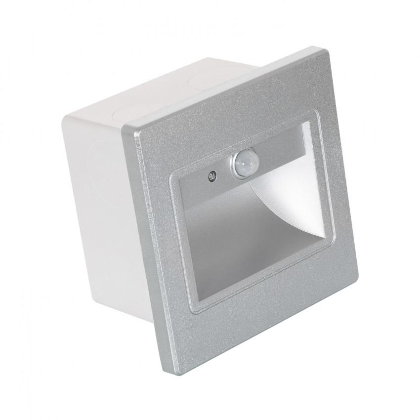 Baliza LED com sensor PIR Acabamento Cinza