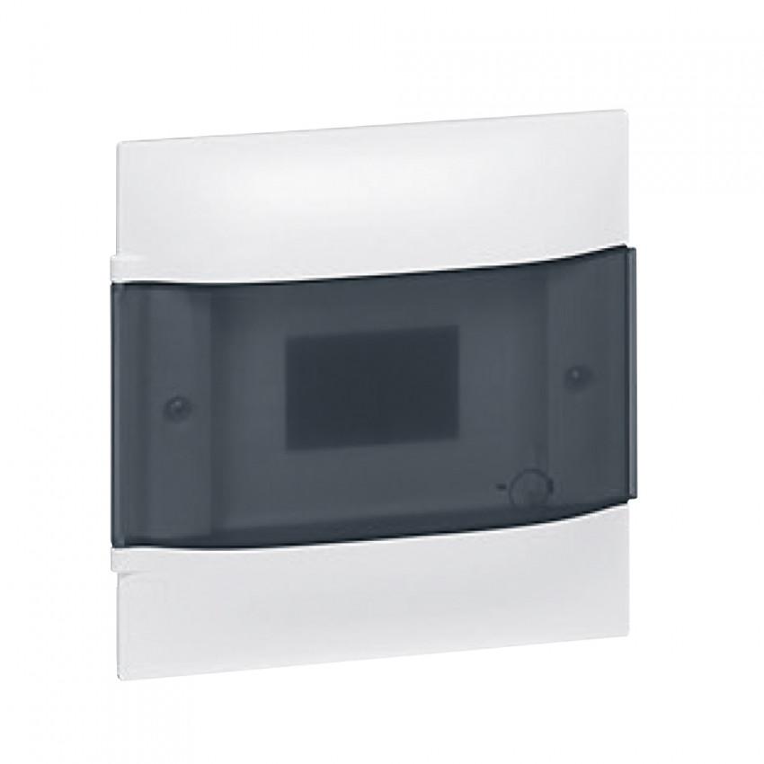 Caixa de Encastrar Practibox S para Divisórias Pré-fabricadas Porta Transparente 1x4 Módulos LEGRAND 134074