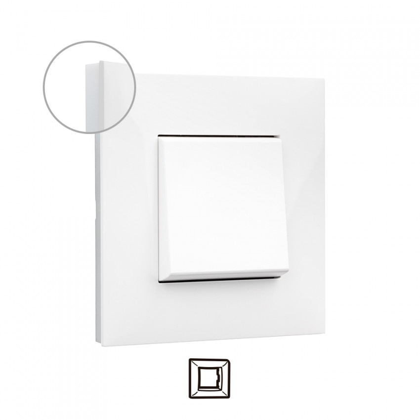 Placa Embelezadora 1 Elemento Branco LEGRAND Valena Next 741001