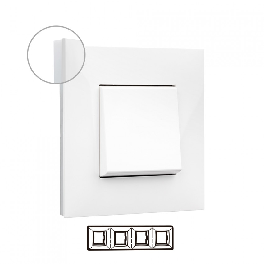 Placa Embelezadora 4 Elementos Branco LEGRAND Valena Next 741004