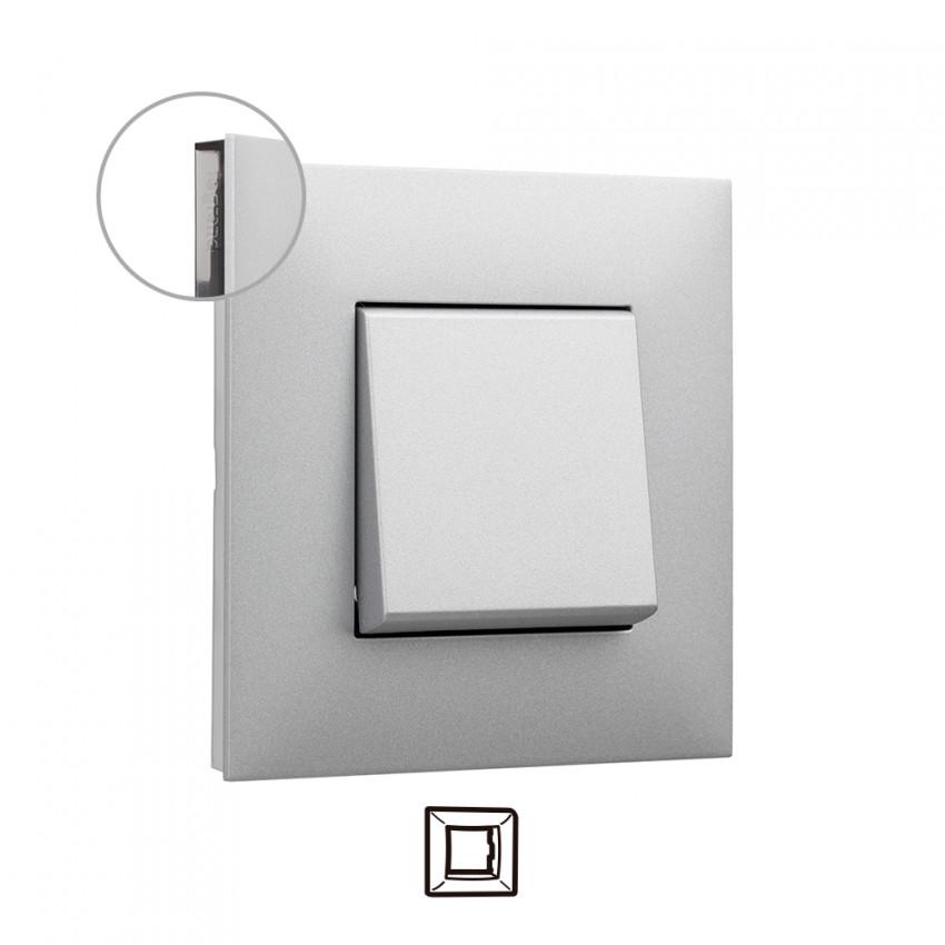 Placa Embelezadora 1 Elemento Alumínio LEGRAND Valena Next 741031