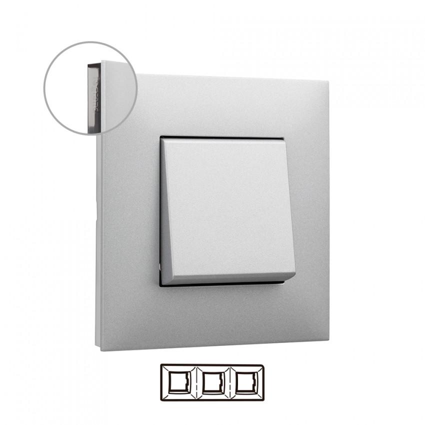 Placa Embelezadora 3 Elementos Alumínio LEGRAND Valena Next 741033