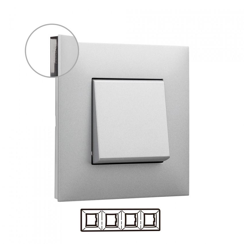 Placa Embelezadora 4 Elementos Alumínio LEGRAND Valena Next 741034