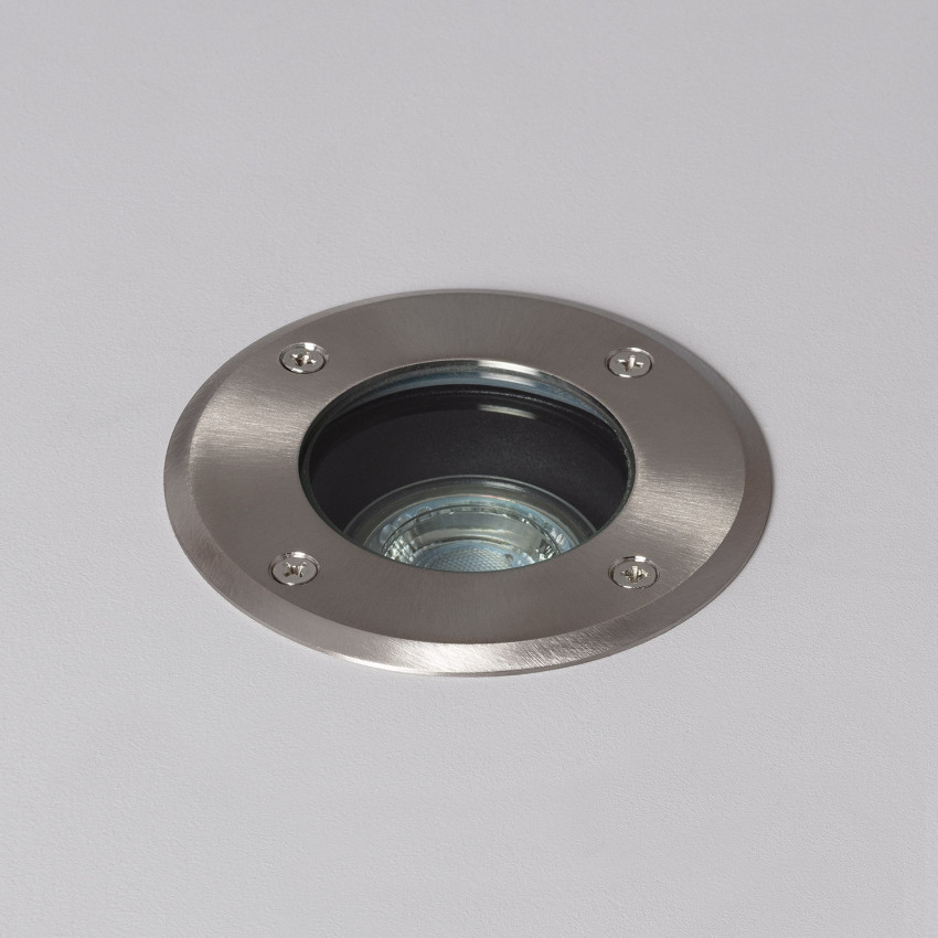 Foco Circular Empotrable en Suelo Inox IP67