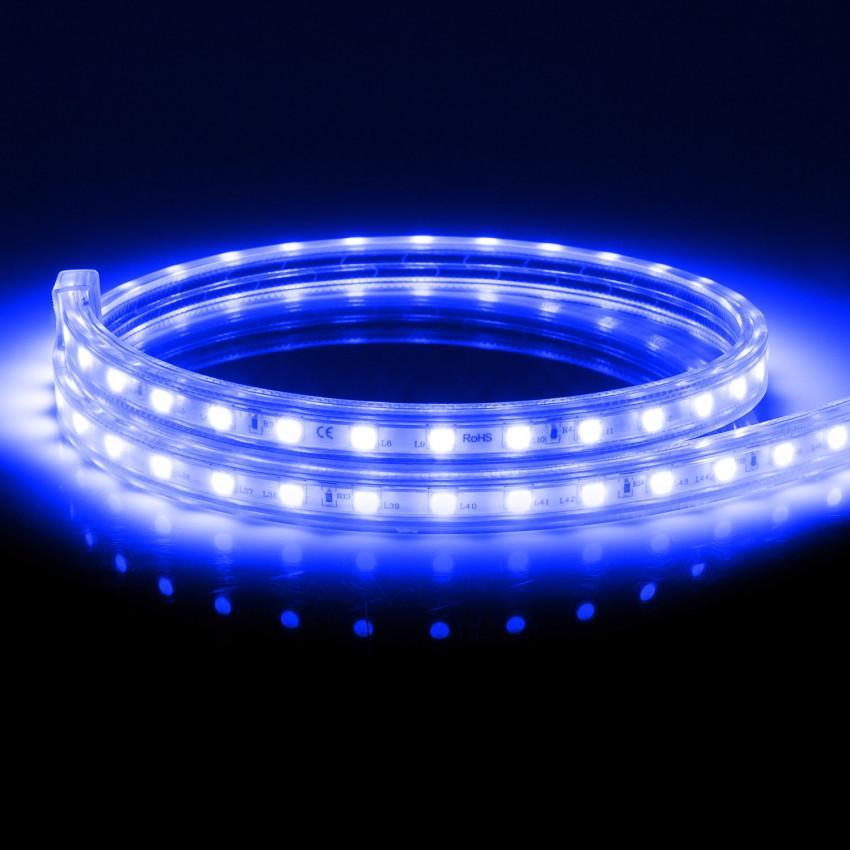 Tira LED Regulable 220V AC 100 LED/m Azul IP67 a Medida Corte cada 25 cm