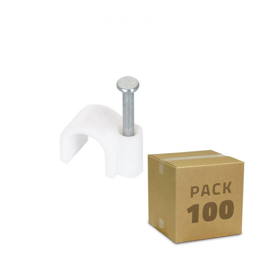 Pack 100 Unidades Grapa Sujeción de Cable