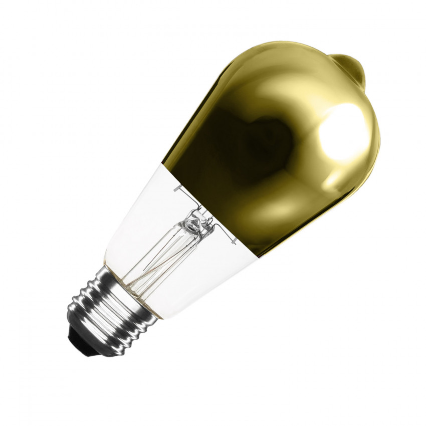 Lâmpada LED E27 Regulável Filamento Gold Reflect Big Lemon ST64 5.5W