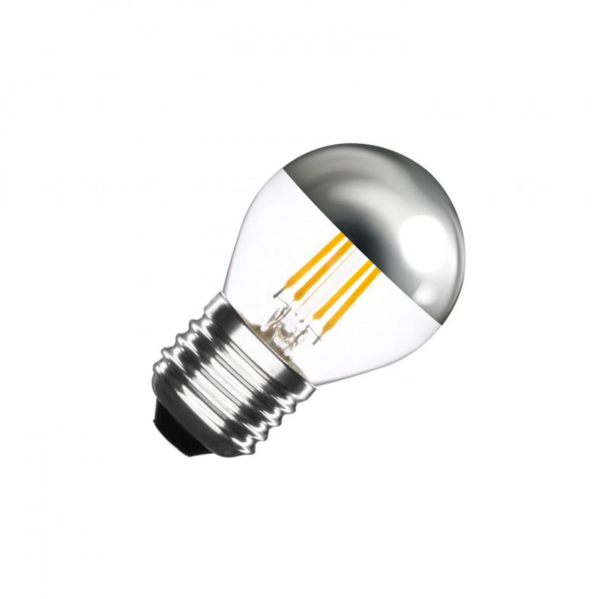 Bombilla LED E27 Regulable Filamento Chrome Reflect Small Classic G45 3.5W