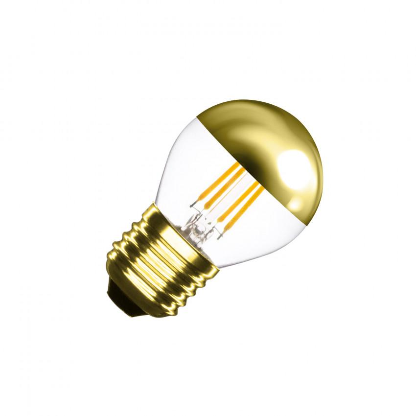 Bombilla LED E27 Regulable Filamento Gold Reflect Small Classic G45 4W