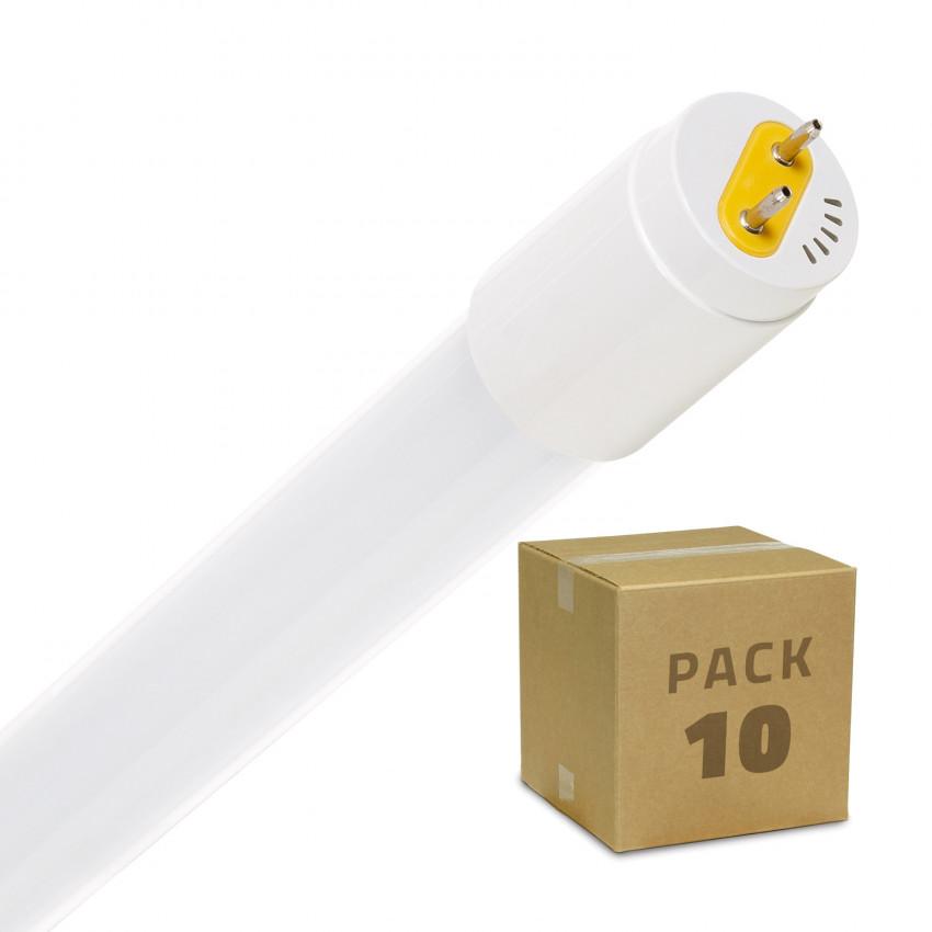 Pack Tubos LED T8 de Vidro 1200mm Conexão Uni-Lateral 18W 110lm/W (10 un)