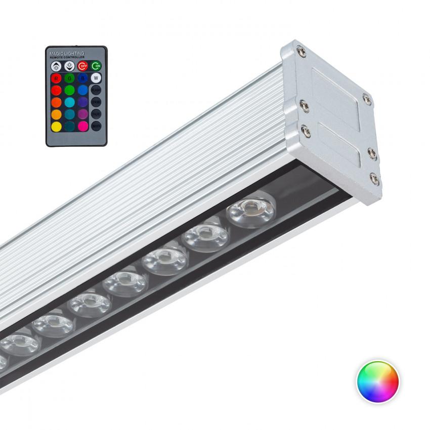 Luminária de Cortina Lineal LED RGB 36W IP65 1000mm
