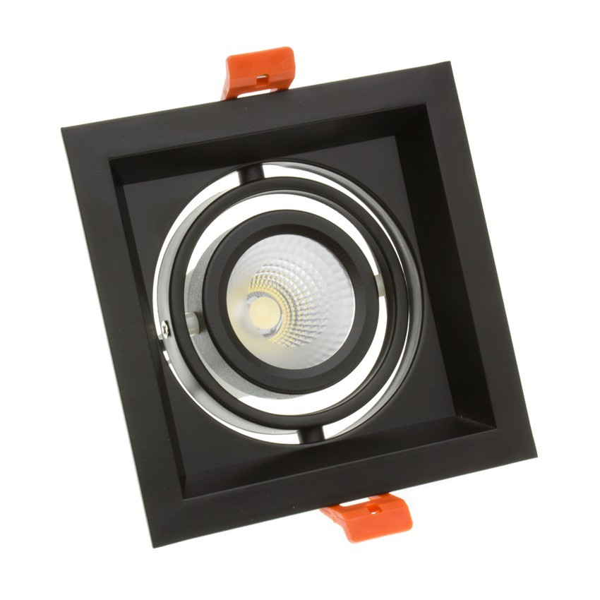 Foco Downlight LED CREE-COB Direccionable Madison Negro 10W LIFUD (UGR 19) Corte 110x110 mm