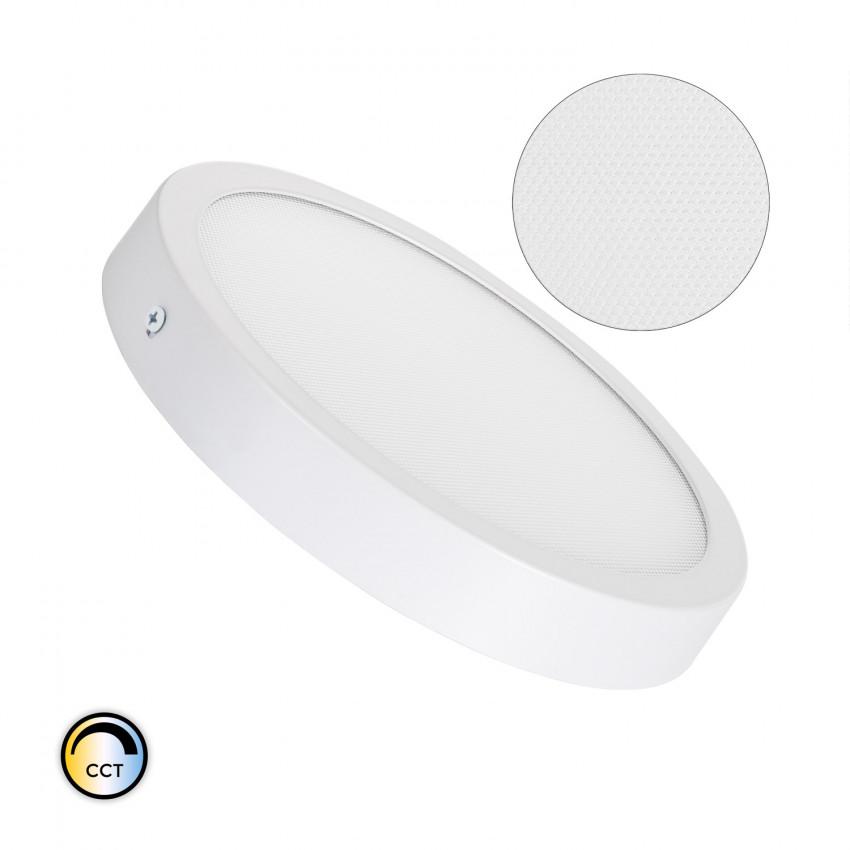 Plafón LED 18W Circular Superslim (CRI90) Microprismático CCT Seleccionável (UGR17)