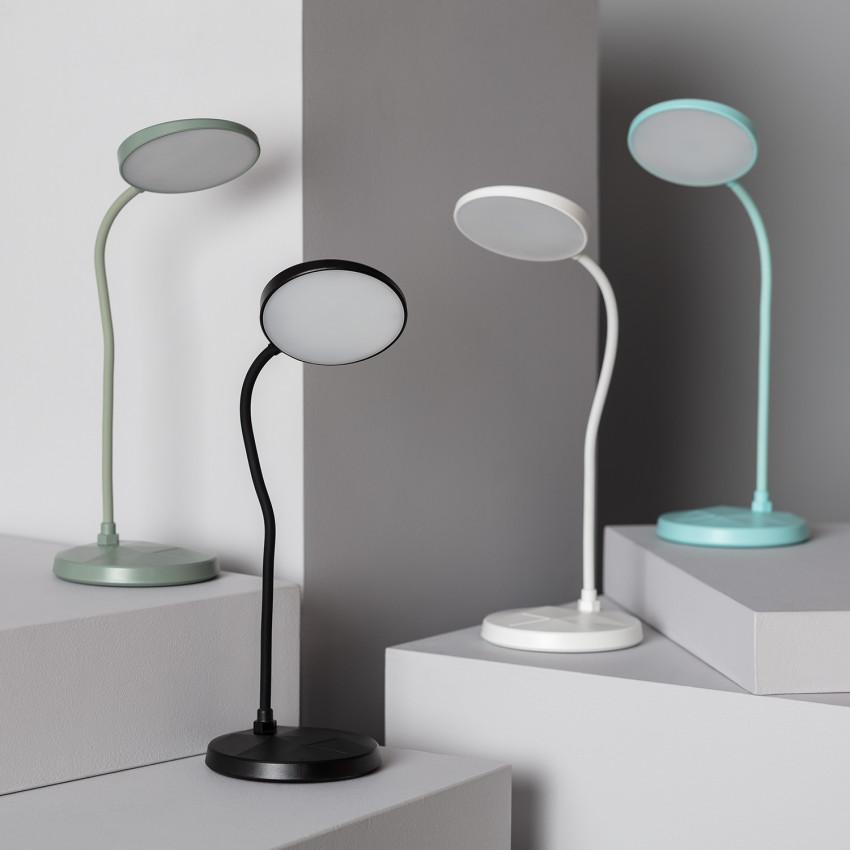 Lámpara de Escritorio LED Portátil Cira 3W con Batería USB Recargable
