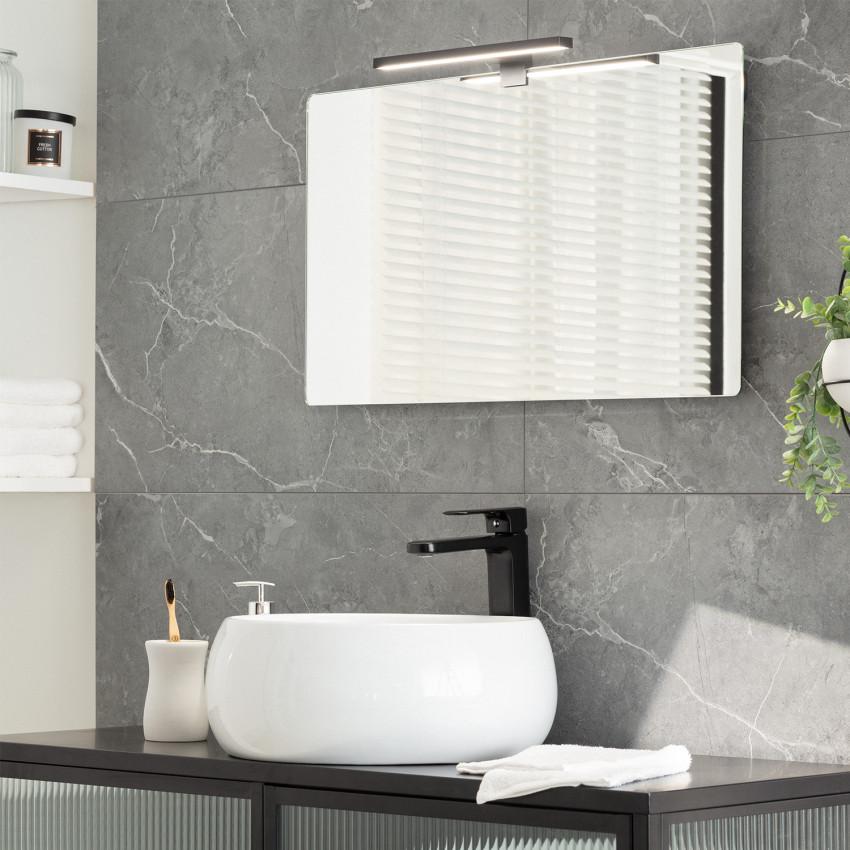 Aplique LED Carl 5W Preto para Espelho de casa de banho