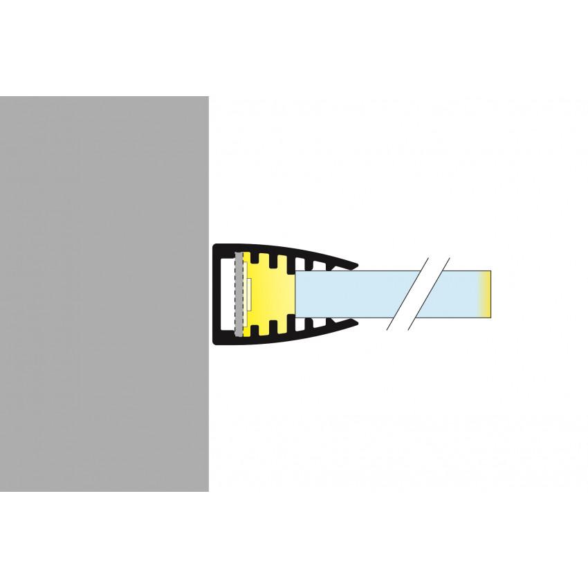 Perfil de Aluminio para Estantería de Cristal 1m para Tiras LED hasta 10 mm