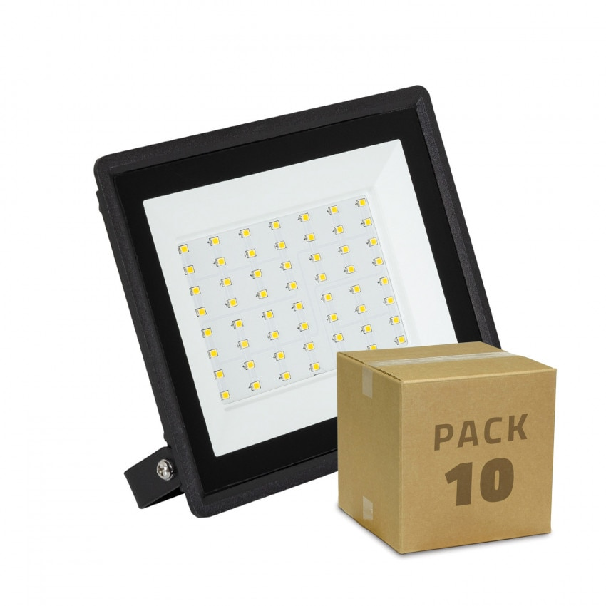 Pack Foco Proyector LED 50W Solid IP65 (10 un)