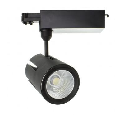 Foco LED Gatling para Carril Trifásico 40W Black