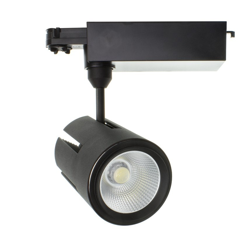 Foco LED Gatling para Carril Trifásico 40W Black